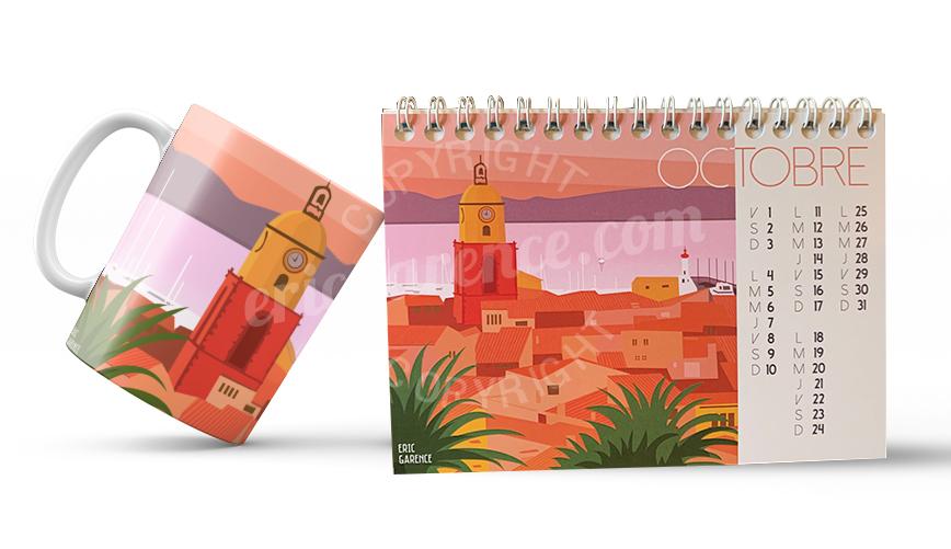 Achetez les Mugs, sacs,cartes postales et Calendrier d'Eric Garence