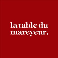 La Table du Mareyeur