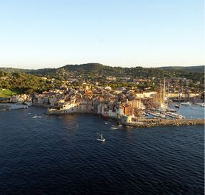 Aerial views of Saint-Tropez