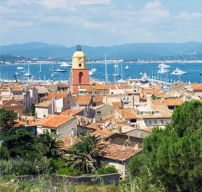 Views of the village of Saint-Tropez
