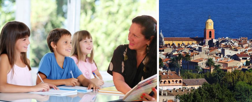 Learn French in Saint-Tropez and on line