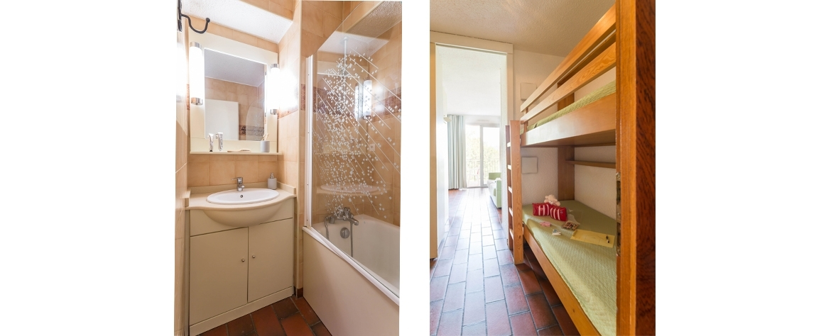 Bathroom and bedroom