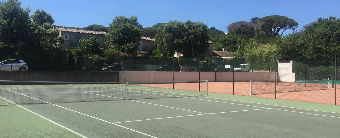 The tennis courses